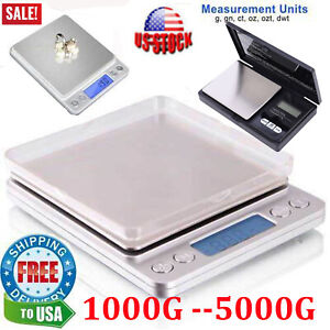 Digital Kitchen Food Cooking Scale Weigh in Pounds Grams Ounces and KG US