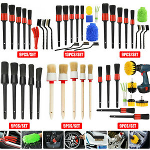 Car Detailing Brush Wash Auto Detailing Cleaning Kit Engine for Wheel Clean Set $16.98