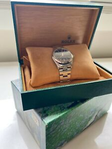 Rolex Air King Mens Stainless Steel Watch Oyster Band Black Precision Dial 14000 $3600.00