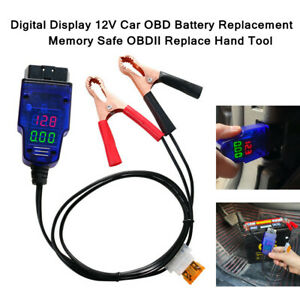 1PCS 12V Car OBD Digital Battery Replacement Memory Safe OBDII Replace Hand Tool $18.95
