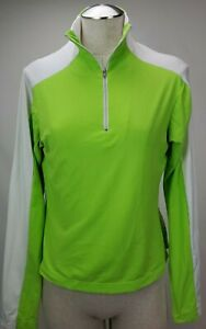 Skea Shimmies Womens Base Layer Top Shirt Size Large Green 1 4 Zip Ski Pullover $17.99