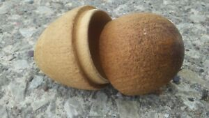 Antique Wood Darning Egg and Sewing Case. $18.00