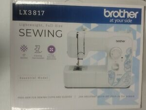 Brother Sewing Machine LX3817 Lightweight Full Size 17 Stitches White quot;Newquot;. $125.00