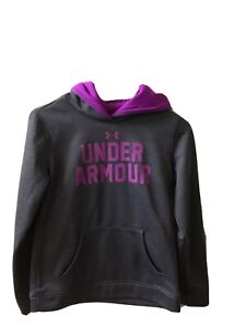 Under Armour hoodie Youth Medium Gray Plum Pre owned $7.70