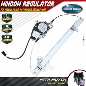 Front Right Power Window Regulator with Motor for Nissan Pickup Pathfinder D21 $36.99
