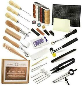 Leather Working Tools and Supplies Leather Craft Kits Leather Sewing Kit $58.68