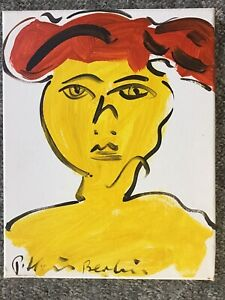 Peter Keil Signed Original Painting Yellow Lady Oil On Canvas $169.00