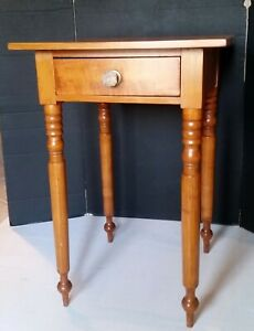 Antique Stand 1 Drawer Cherry? Table 19th Century Americana Nite Stand Nice $225.00