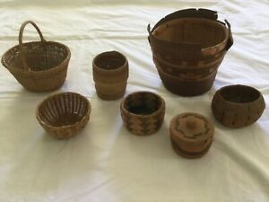Antique baskets a lot of seven $150.00