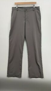 Under Armour Golf Pants Loose Stretch Gray Athletic 34 36x33 $19.99
