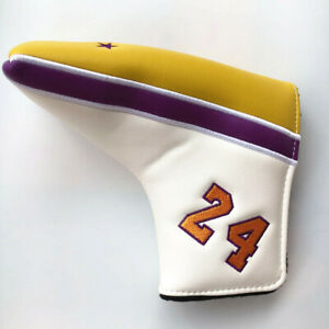 Magnetic Putter Cover Golf Blade Club Headcover Golf Accessory Yellow Purple USA $19.94