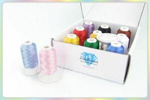 Embroidery Filament Dyed Thread For Brother Janome Machine Knitting Supplies New $41.64