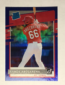 2020 DONRUSS RANDY AROZARENA RATED ROOKIE BLUE FOIL PARALLEL #51 $11.75