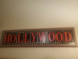 Vintage Tile And Wood Hollywood Sign
