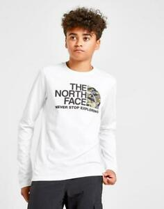 The North Face Never stop exploring Easy Camo Long Sleeve T shirt Junior White $16.99