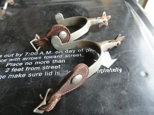 VINTAGE NORTH  JUDD WESTERN COWBOY BOOT SPURS WITH ANCHOR TRADEMARK