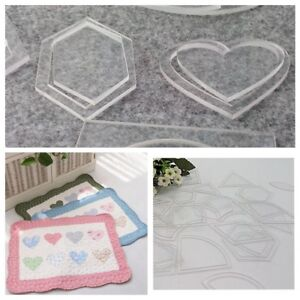 54pcs DIY Tool Acrylic Quilt Quilting Template Sewing Ruler For Patchwork Craft $9.49