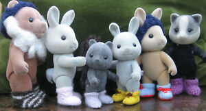 Boots amp; Socks for Sylvanian Families footwear to fit all sizes; small needles GBP 3.00