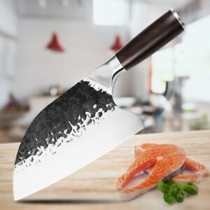 Serbian Forged Butcher Knife Stainless Steel Chopping Cleaver Kitchen Chef Knife