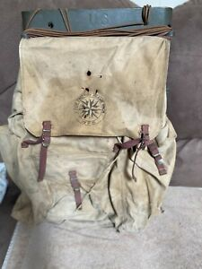 Antique Military 1944 WW2 Korean War Pack Board Backpack American Seating Co $35.00