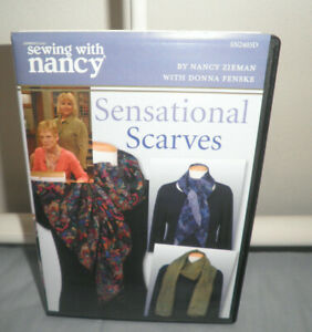 SENSATIONAL SCARVES SEWING WITH NANCY DVD Very Good Condition $6.49