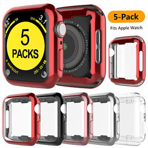5 Pack for Apple Watch Series 6 5 4 SE 3 2 Protector Case 44 40 42 38mm Cover $8.89