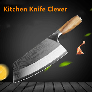 Pro Chef Knife Stainless Steel Cleaver Chopping Slicing Japanese Kitchen Knife