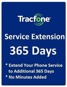 TracFone 1 Year 365 Days Service Extension Digital Refill for BYOP $59.99