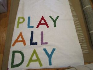 Pottery Barn Kids Machine Washable Play All Day Rug New $112.49