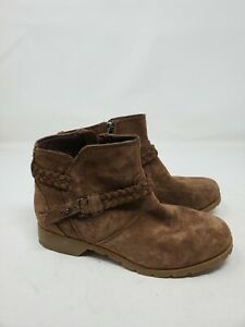 Teva Size 5.5 Delavina Brown Suede Ankle Boot Comfort Bootie Belted Braid $25.99