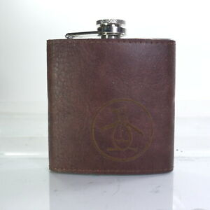 Timberland Leather Covered Flask 7 oz stainless steel