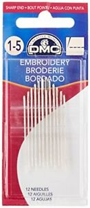 1765 1 5 Embroidery Hand Needles 12 Pack Size 1 5 Size 1 5 $3.99