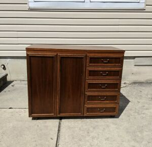 Vintage Horn Collection German Sewing Cabinet Table Mid Century Modern $995.95