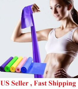 5 Feet Stretch Resistance Bands Exercise Pilates Yoga GYM Workout Aerobic $3.99