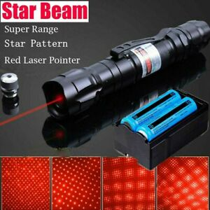 990Miles 650nm Red Laser Pointer Star Beam Lazer Rechargeable BatteryCharger $12.85