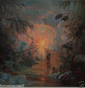 John Pitre Limited Edition Lithograph quot;Walk Through the World of Drugsquot; Signed $79.95