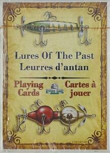 Rivers Edge Antique Lures of the Past Playing Cards 54 Different Images NEW