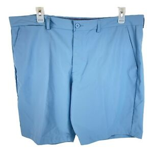 George Shorts Mens Size 44 Blue Flat Front GE Performance Moisture Wicking $14.99