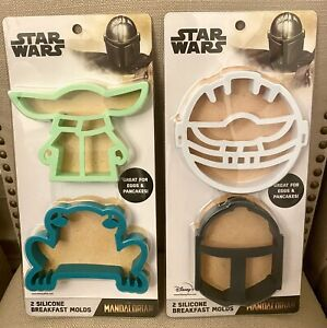Disney The Mandalorian Baby Yoda Star Wars Breakfast Silicone Pancake Molds Set