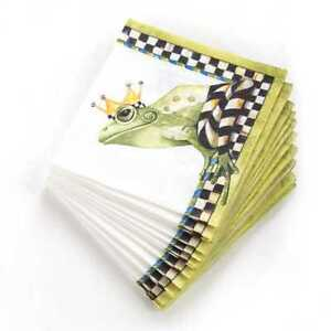 MacKenzie Childs Frog Paper Napkins Cocktail 20 per Pack NEW