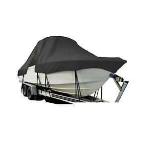 Pioneer Bay Sport 175 Center Console T Top Hard Top Fishing Boat Cover Black