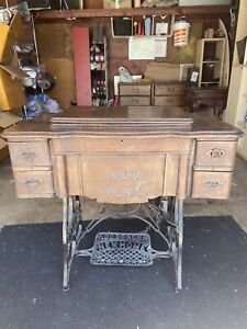 New Home Antique Sewing Machine Treadle $200.00