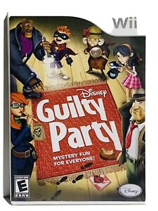 Disney Guilty Party Wii Mystery Whodunnit Complete w Manual 4 Player Party Game $7.95