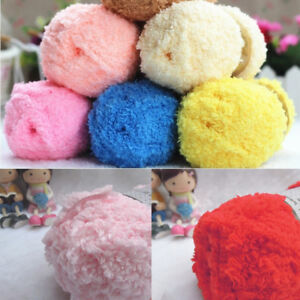 HOT DIY Knitting Wool Yarn Soft Baby Wool Yarn Towel Line Scarf Line 11 Color C $4.29