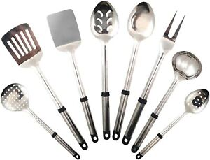 Stainless Steel BPA Free Cooking Nonstick Kitchen Utensils Cookware Set of 8