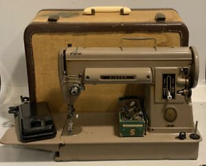 Singer Model 301 Sewing Machine Long Bed w Case Pedal And Attachments Serviced $250.00