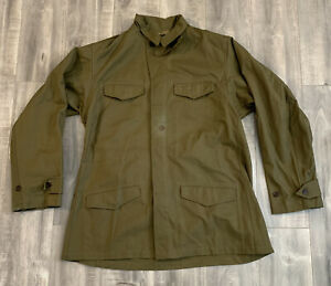 Vintage 50s M47 French Military Green Jacket Size 46 $70.00