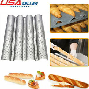 Non stick Stainless Steel French Bread Baking Tray Baguette Bake Molds Pan Tool