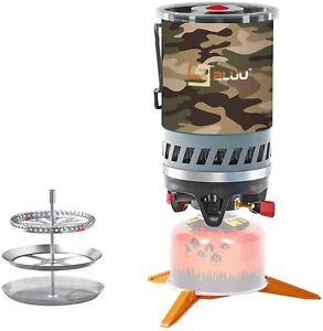 BLUU SOLO Backpacking Camping Propane Stove Outdoor Portable Gas Burner 0.9 L