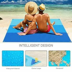 Sand Free Beach Blanket Extra Large Waterproof Family Picnic Outdoor BBQ Pad Mat